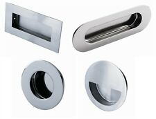 Eurospec Circular Flush Pull Recessed Grab Sliding Door Handle ...