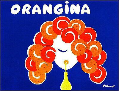 Orangina Villemont Print Poster 60cm x 46cm Vintage Drinks Advertising