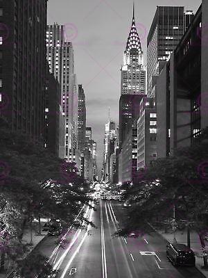 Cityscape 42nd Street Chrysler Building New York USA Canvas Art Print