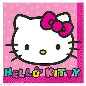 HELLO-KITTY-Rainbow-SMALL-NAPKINS-16-Birthday-Party-Supplies-Beverage ...