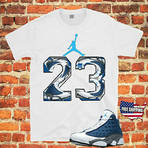 T Shirt To Match Air Jordan 13 Flint Shoe White Tee New Free