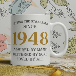 Image Is Loading 70th Birthday Gift Mug Born 1948 Idea Grandpa