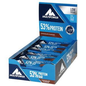 (30,83€/kg) Multipower 53% Protein Bar Eiweiss Riegel 24x 50g versch. Sorten