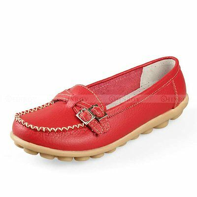 New Womens Lady Casual Oxfords Flats Shoes Leather Ballet Loafers Boat Shoes