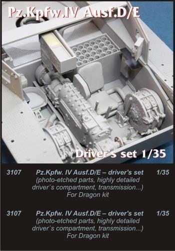 Czech Master 1//35 Pz.Kpfw IV Ausf.D//E Drivers Set # 3107