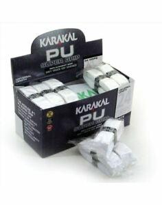 Karakal-PU-Super-Grip-Da-Badminton-Tennis-Racchetta-Da-Squash-Grip-x-1-Bianco