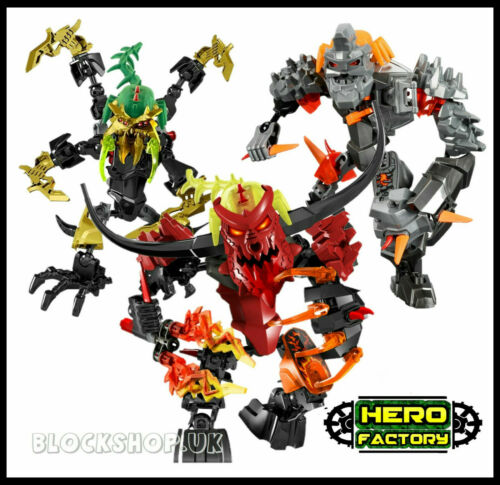 SCAROX BRUIZER TRIPLE SET fits lego HERO FACTORY BIONICLE PYROX