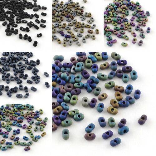 20 g Peanut japonais FARFALLE BUTTERFLY Mat Verre Seed Perles 4x2x2mm TROU 0.5 mm
