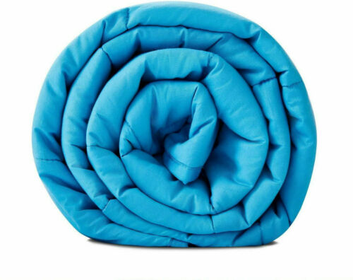 "Sky Blue Weighted Heavy Blanket 15//20lbs 60/""x80/"" for Kids Teens Adult"