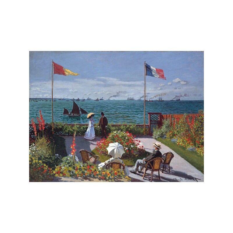 Quadro Monet su Pannello in Legno MDF Claude Monet Quadro Terrasse à Sainte-Adresse ef088b
