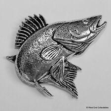 Zander Pewter Pin Brooch - British Handcrafted - Walleye Perch Coarse Fishing