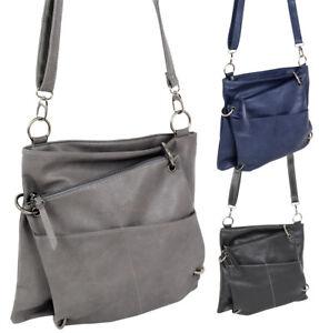 Damen-Handtasche-2in1-Schultertasche-mittelgrosse-Umhaengetasche-crossover-Tasche