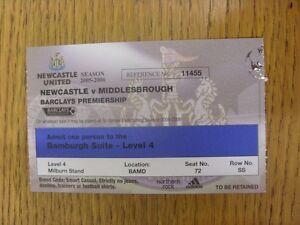 02-01-2006-Ticket-Newcastle-United-v-Middlesbrough-Bamburgh-Suite-Season-2005