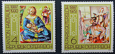 Yvert And N Tellier°1703 Et 1704 N Stamp Austria Austria Stamp cyn5 A Plastic Case Is Compartmentalized For Safe Storage