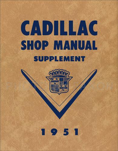 1951 Cadillac Riparazione Manuale Deville Serie 61 62 60 Special Fleetwood 75