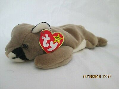Ty Beanie Baby 1998-Plush Toy-Retired Canyon the Cougar Mountain Lion 8 inch