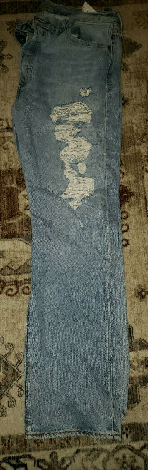 Levis 501's Jeans Distressed 36x32 Button Fly - image 8