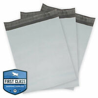 100 Poly Envelope Mailers Shipping Bags - 12 X 15.5 - Gray