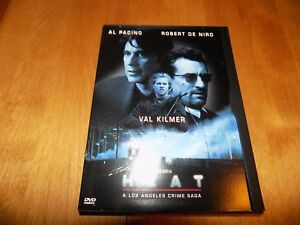 HEAT Al Pacino Robert De Niro Val Kilmer Los Angeles Crime Saga Michael Mann DVD