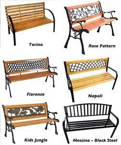 Astounding Details About 3 Seater Garden Patio Bench Seat Outdoor Seating Cast Iron Metal Park Machost Co Dining Chair Design Ideas Machostcouk