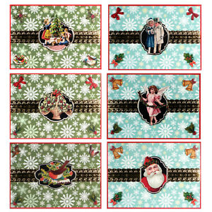 Image Is Loading 36 Victorian Decoupage Blank Xmas Cards With Santa   Blank Xmas Cards