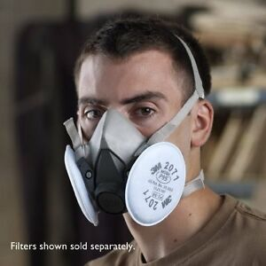 3M Dust Paint Mask Half Face Respirator Filter Spray Protect Smoke Gas Medium 3M