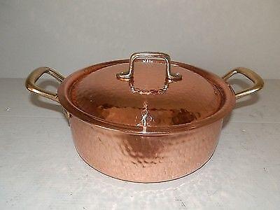 Casseruola in rame da cucina con interno stagnato professionale 21 cm