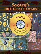 Seguy's Art Deco Designs CD-ROM and Book (Dover Electronic Clip Art)-ExLibrary