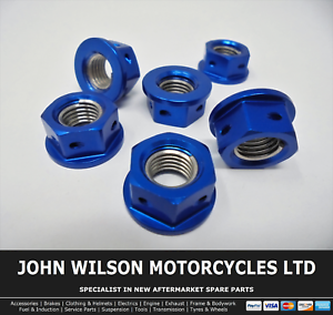 Ducati Monster 696 2008 - 2012 Blue Aluminium Race Sprocket Nuts