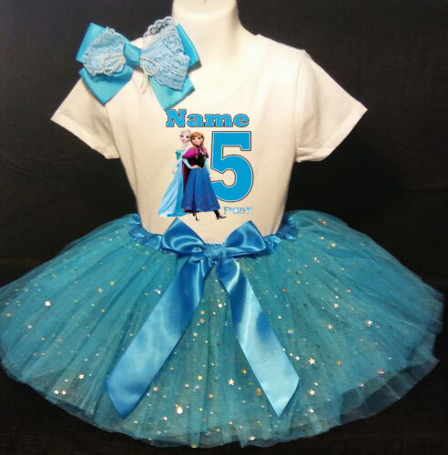 Frozen 5th Birthday dress--With NAME-- party Tutu outfit