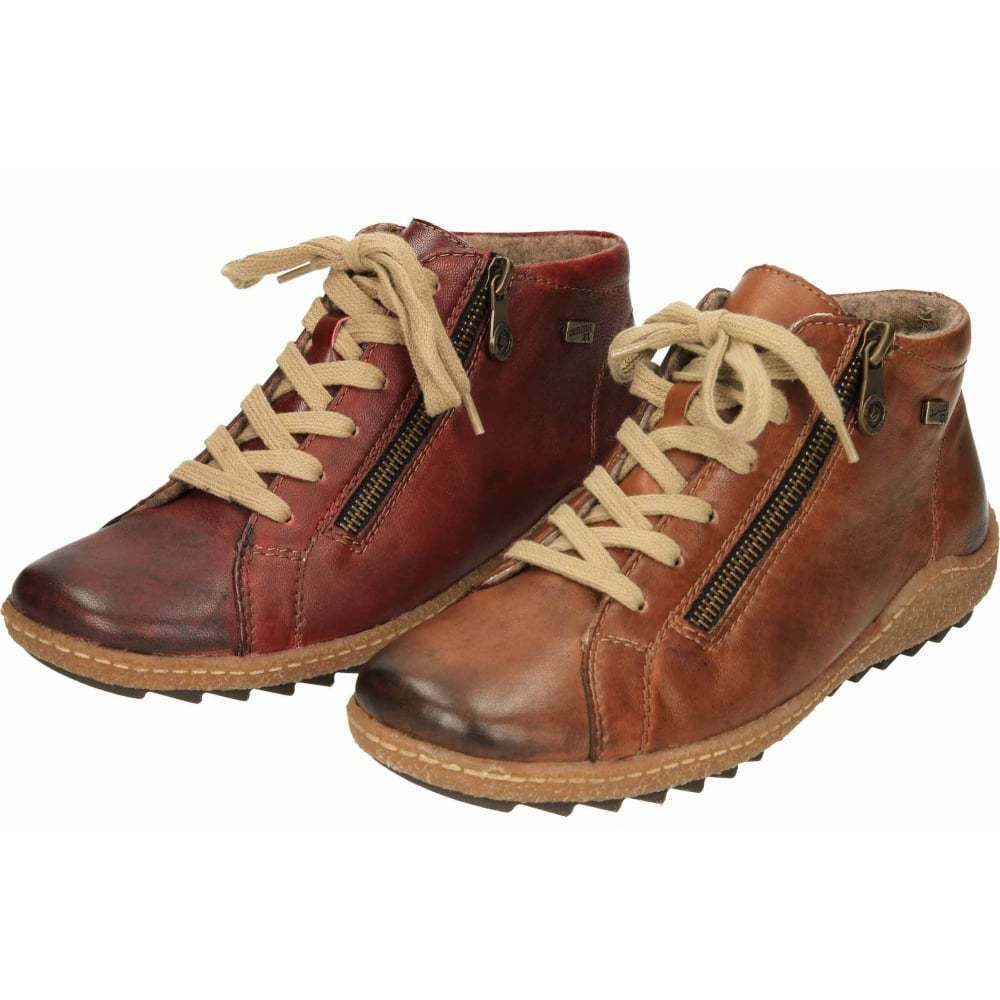 Remonte Tex Leder Ankle Stiefel Lace Up Zip High Breathable Top Schuhes R4774 Warm Breathable High 2ef897