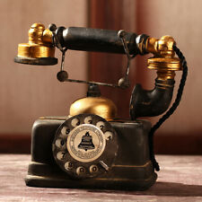 Vintage Rotary Retro Dial Telephone Antique Old Phone Statue Home Office Decor