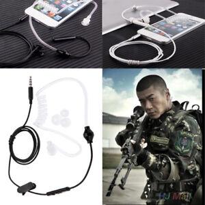 B6C4-3-5mm-Wired-Anti-Radiation-Air-Tube-Headset-Earbud-In-Ear-Earphone-w-MIC