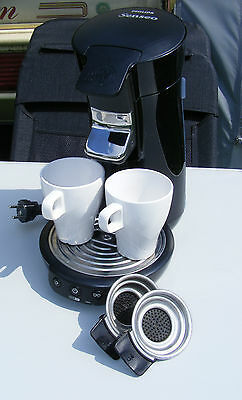 Philips Senseo HD7825 VIVA  Kaffeepadmaschine in Lack Schwarz TOP Zustand