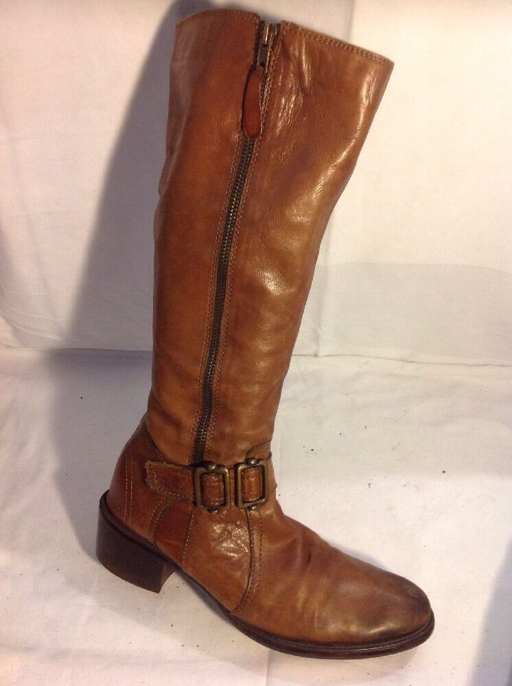 Episode Brown Knee High Leather Boots Size 39