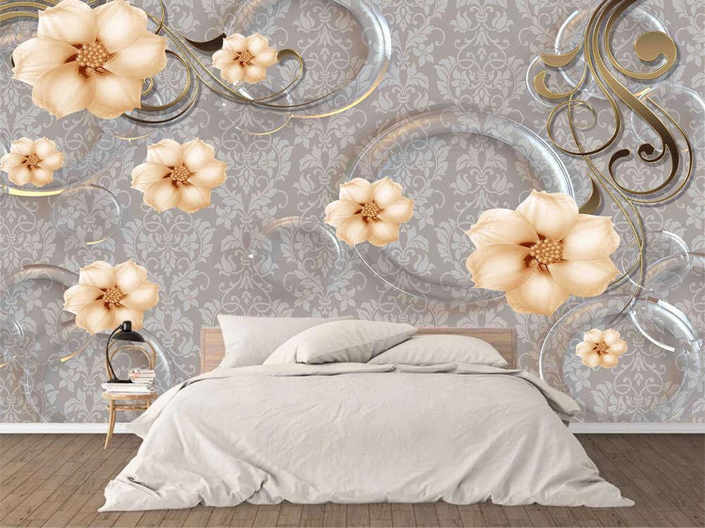 Retro Focal Peach 3D Full Wall Mural Photo Wallpaper Printing Home Kids Decor