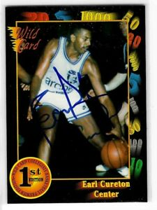Earl Cureton Signed 1992 Wild Card Collegiate Collection 1st Edition Card #74