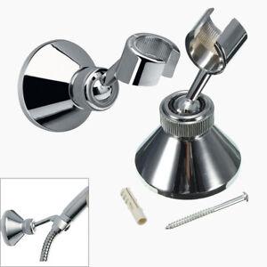 ABS-Shower-Handset-Head-Holder-Chrome-Bathroom-Wall-Mounted-Adjustable-Bracket
