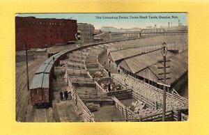 Omaha-Nebraska-NE-The-Unloading-Docks-Union-Stock-Yards-used-1913