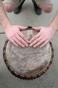 Classic Hand-carved Quinto Conga Drum - 10x28 African Drum from Ghana