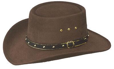 Kids New S//M 8 Second L//XL Black Faux Felt Cowboy Hat with Black Band