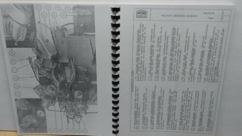 Myford MG12-HA or MG12-HAC Grinder Operation Maintenance /& Parts Manual