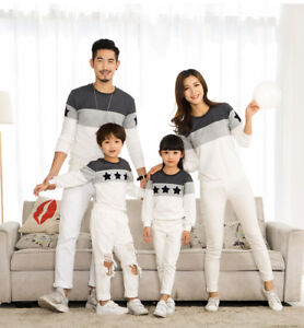 7f073b9b Family Matching Clothes Couple T-Shirt Long Sleeve Mom Dad Baby Kids ...