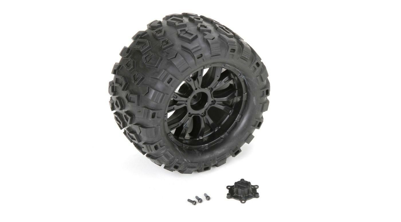 Losi TEN-MT SCTE 1 10 4WD LOS43010 Wheel and Tire Mounted (2) TEN MT