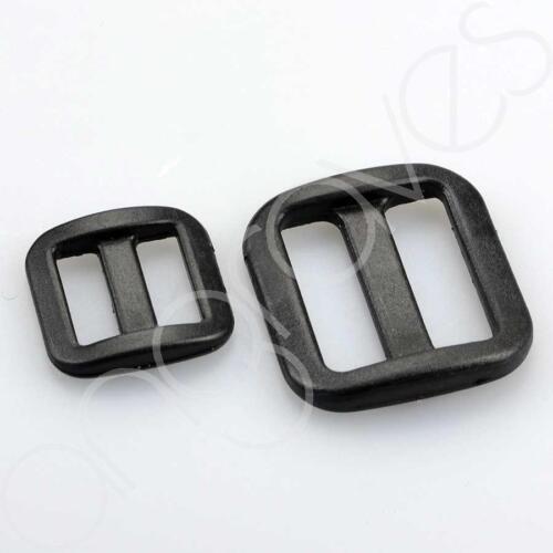 Set of 10 Plastic TriGlide Webbing Buckles Cat Dog Collars Bag Strap Belt Slide