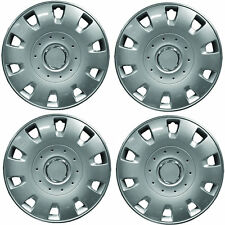 "Tomahawk 15"" Car Wheel Trims Hub Caps Plastic Covers Silver Universal (4Pcs)"
