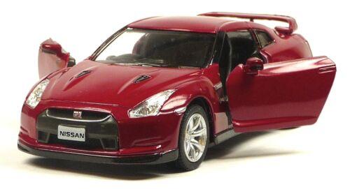 12,5 cm Modellauto Neuware von KINSMART 2009 Nissan GT-R R35 dunkelrot ca.1:36