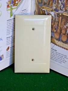 Other Collectible Lighting Vintage Bakelite Ivory Color Sierra Blank Outlet Wall Plate Cover