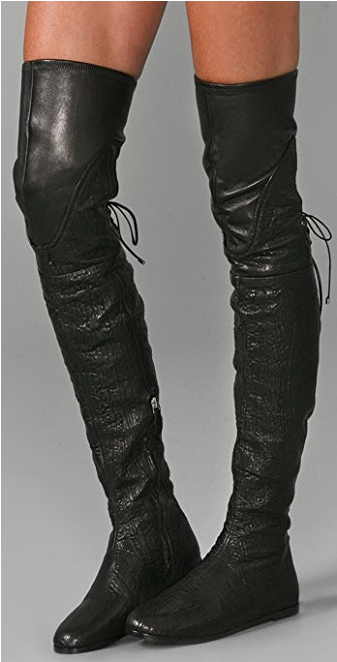 SUPER BEAUTIFUL CAMILLA SKOVGAARD SKOVGAARD SKOVGAARD schwarz FLAT OVER THE KNEE Stiefel EU 37 US 7 7bb358