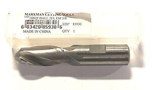 """Marxman 1//8/"""" X 3//8/"""" End Mill 2 Flute High Speed Steel Center Cutting 85830"""